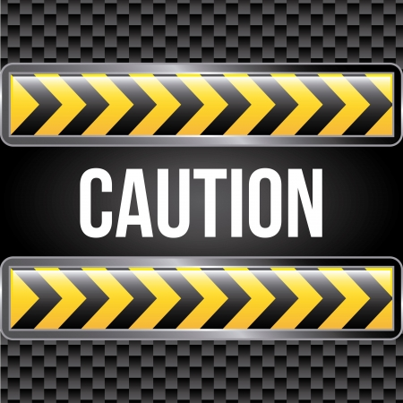 caution tape over black background Stock Vector - 21287361