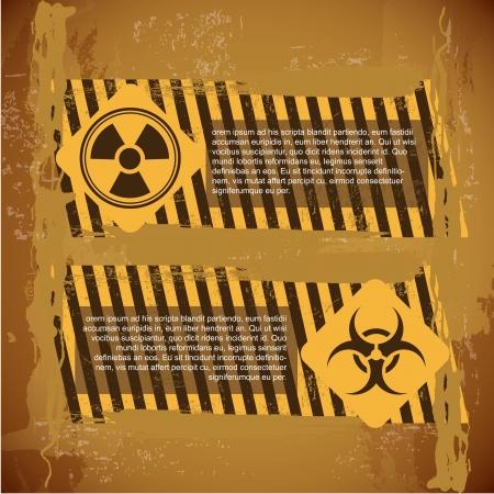biohazard signs over vintage background Stock Vector - 21287362
