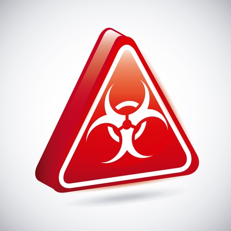 biohazard signs over gray background  Stock Vector - 21275208