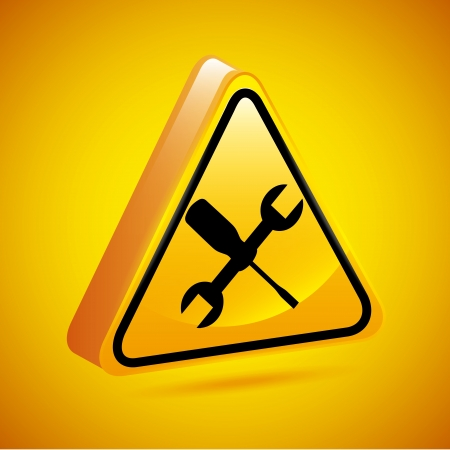 parameter: workshop sign over yellow background