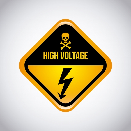 limited access: high voltage design over gray background  Illustration