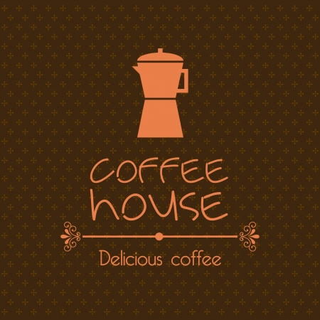 coffee house design over brown background  Vector