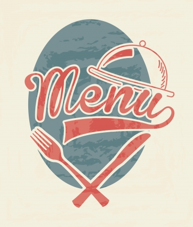 menu design over white background  Vector