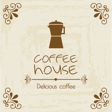 coffee house design over vintage background  Vector