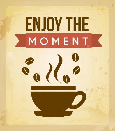 coffee design over vintage background