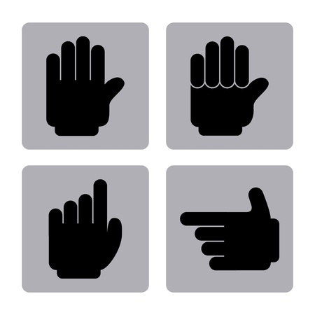 hands signs over white background  Vector
