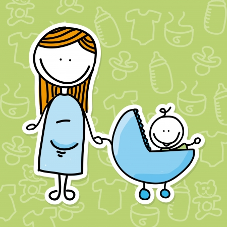 baby design over green background  Vector