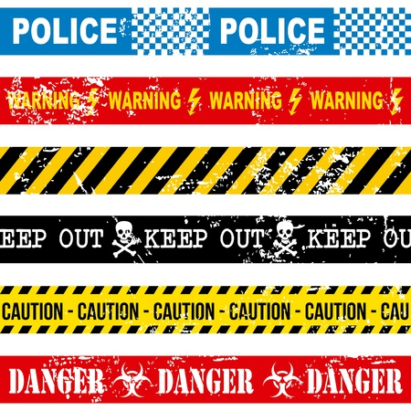 caution tape over white background  Stock Vector - 21287444