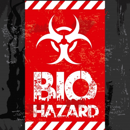 prudence: bio hazard design over black background  Illustration