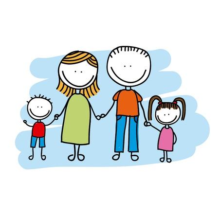 Familie ontwerp op een witte achtergrond Stockfoto - 21287455