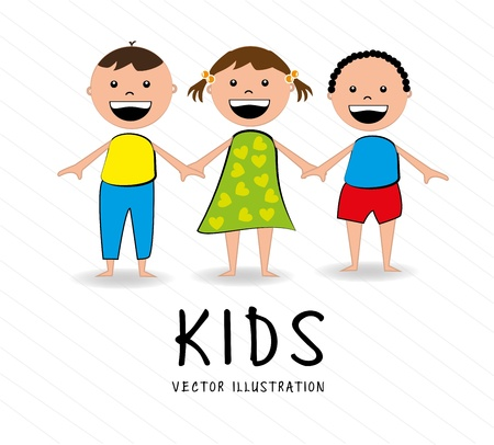 genders: kids design over white background