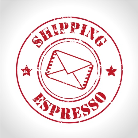 shipping espresso over gray background  Vector