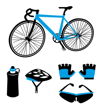 cycling design over white background  Vector