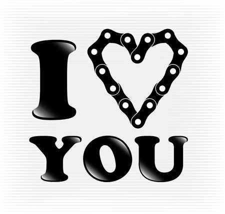 i love you over lineal background  Vector