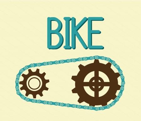 bike design over cream background Vector