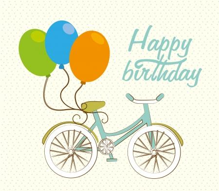 fervor: happy birthday over dotted background  Illustration