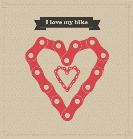 dedicate: i love my bike over dotted background