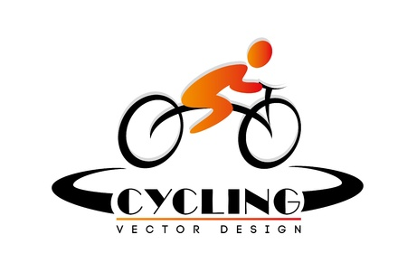 bicyclist: cycling design over white background  Illustration