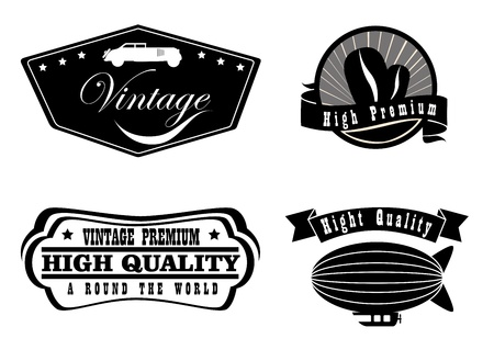 vintage labels over white background  Vector