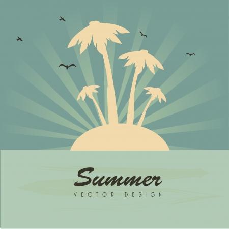 summer design over blue background  Vector