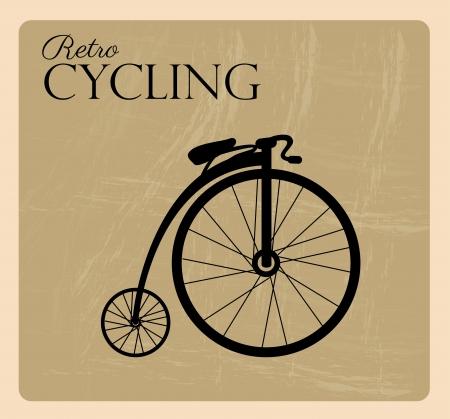 retro fietsen over zwarte achtergrond