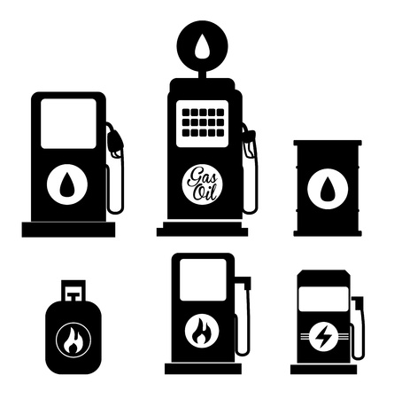 fuel icons over white background  Stock Vector - 21287606