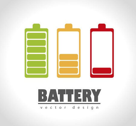 battery icons over gray background  Stock Vector - 21287616