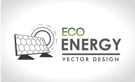 eco energy design over gray background  Vector