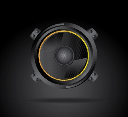speakers design over black background vector illustration  Vector