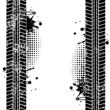 bandensporen over witte achtergrond vector illustratie
