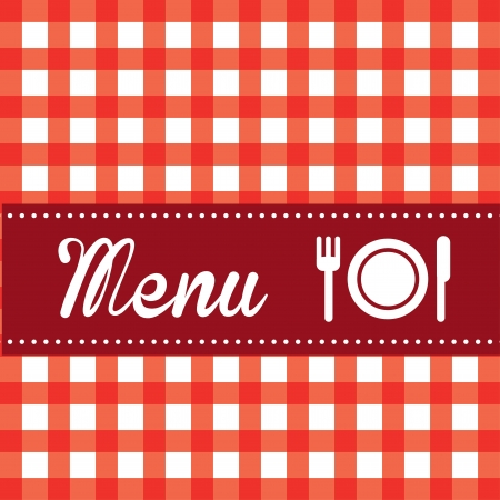 menu brochure over grid  background vector illustration  Vector