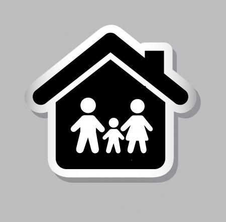 family insurance over gray background vector illustration Stock Vector - 21327546