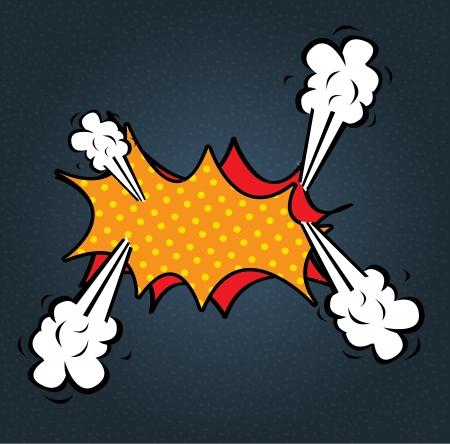 Bubble comic over blue background vector illustration  Illustration