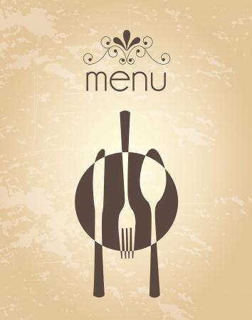 menu design over vintage background vector illustration  Vector