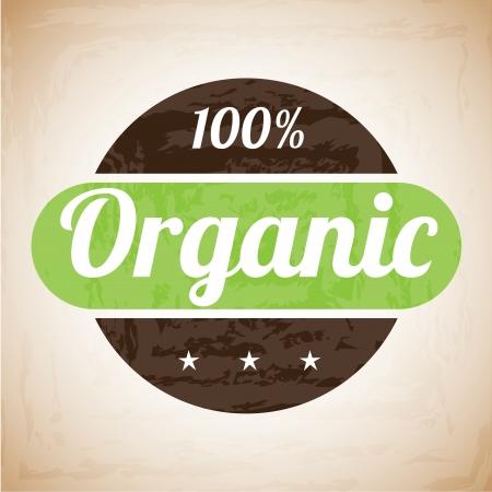 product signal: organic label over vintage background vector illustration  Illustration