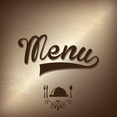 menu ontwerp over brons achtergrond vector illustratie
