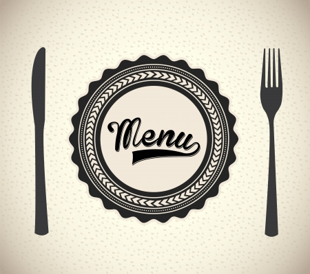 menu brochure over beige background vector illustration   Vector
