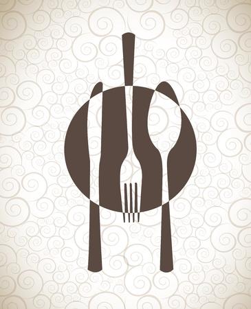 menu ontwerp op vintage achtergrond vector illustratie