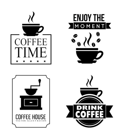coffee design over white background vector illustration