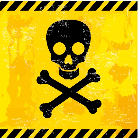 skull design  over yellow background vector illustration  Vector