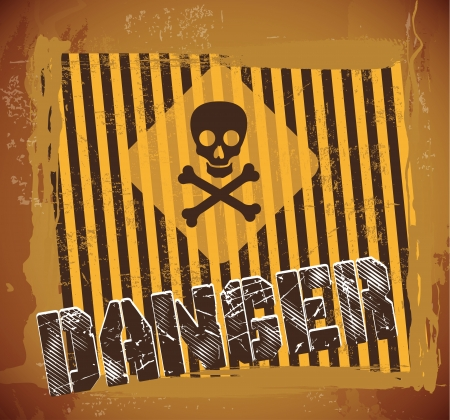 prudence: danger signal  over vintage background vector illustration