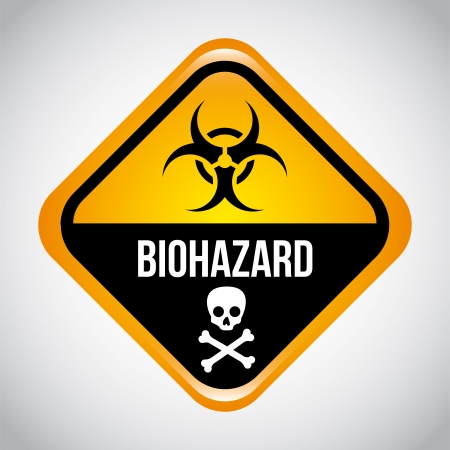 biohazard design over gray background vector illustration  Vector