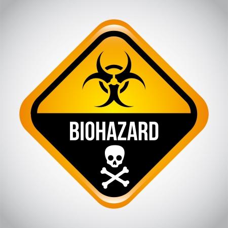 biohazard design over gray background vector illustration Stock Vector - 21327608