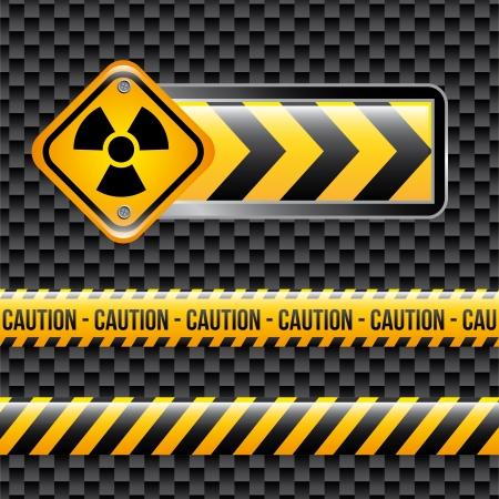 biohazard signs over black background vector illustration Stock Vector - 21327617