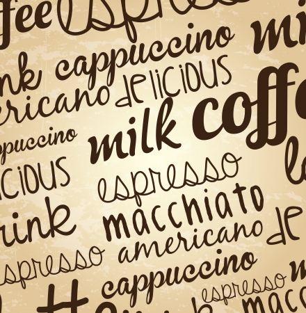 coffee poster over vintage background vector illustration