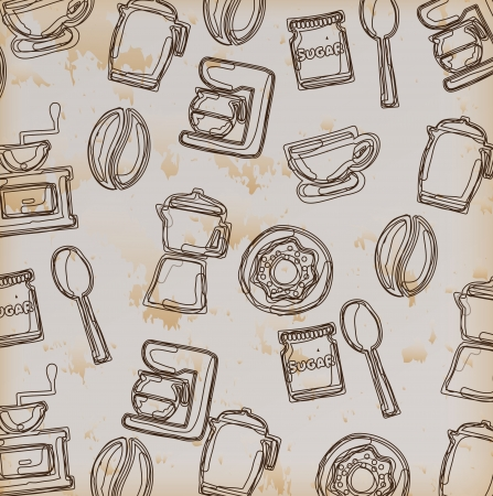 cooking icons over vintage background vector illustration    Vector