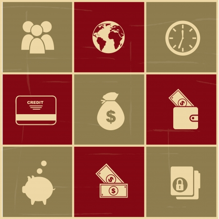 finance icons over colorful background vector illustration  Vector