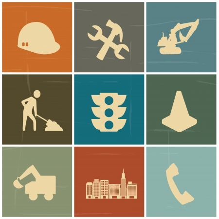 constuction: construction icons over colorful background vector,illustration