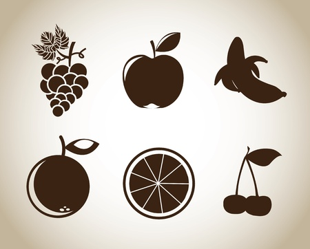 fruits design over beige background vector illustration  Vector