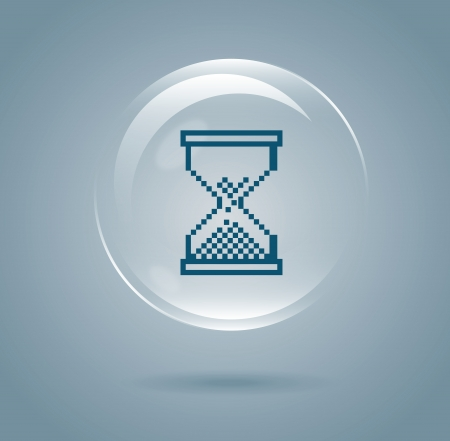 hourglass design over blue background vector illustration  Stock Vector - 21371960